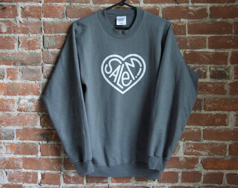 Salem Heart Sweatshirt  Gray image 0