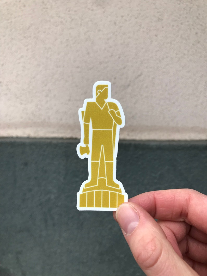 Gold Man Standalone Sticker  3 image 0