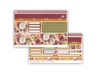 Passion Planner November 2021 Monthly Sticker Kit - Small, Medium, Large