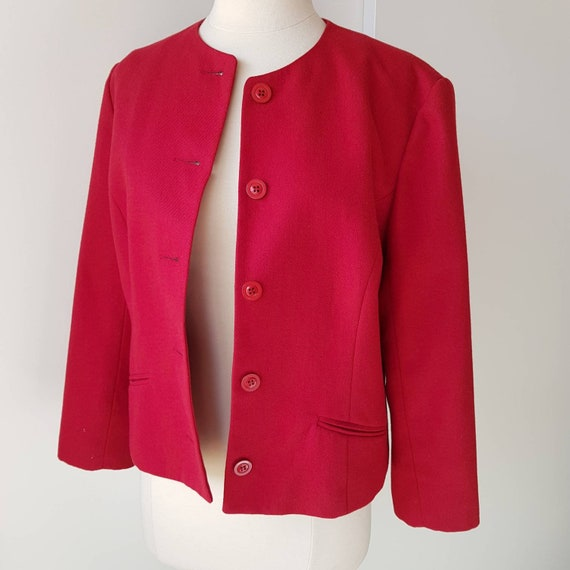 Vintage 1990s Pelaco Collection Red Cropped Boxy W