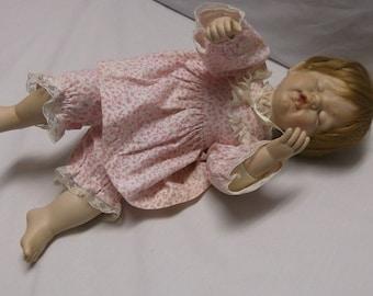 Megan Porcelain Sleeping Doll, Designed by Fayzah Spanos for the Danbury Mint
