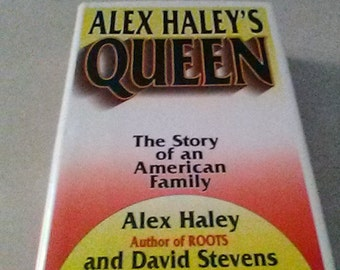 """Vintage Hardcover 1st Edition Book (Made Into Movie) """"Queen: The Story of an American Family"""", by Alex Haley & David Stevens, W/ Dust Jacket"""