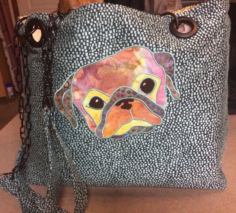 Pug Tote Handmade