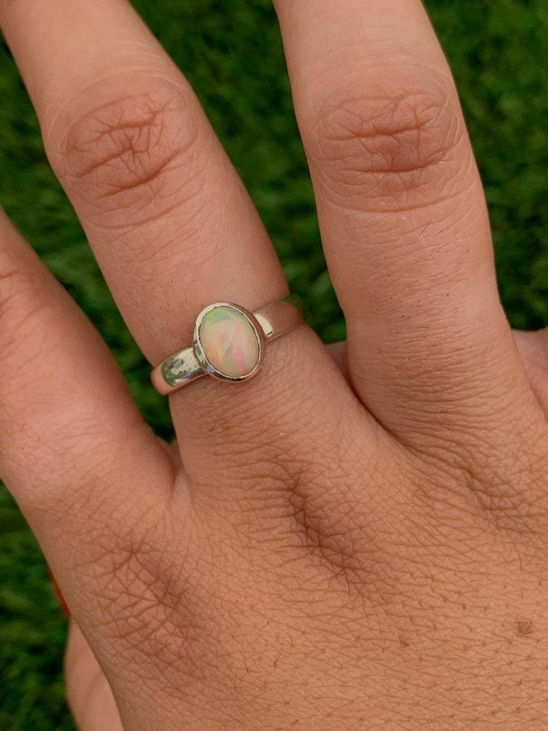 Size 7 Ethiopian Fire Opal Ring