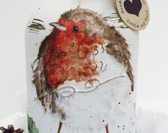 Handmade Mason Jar Christmas Robin