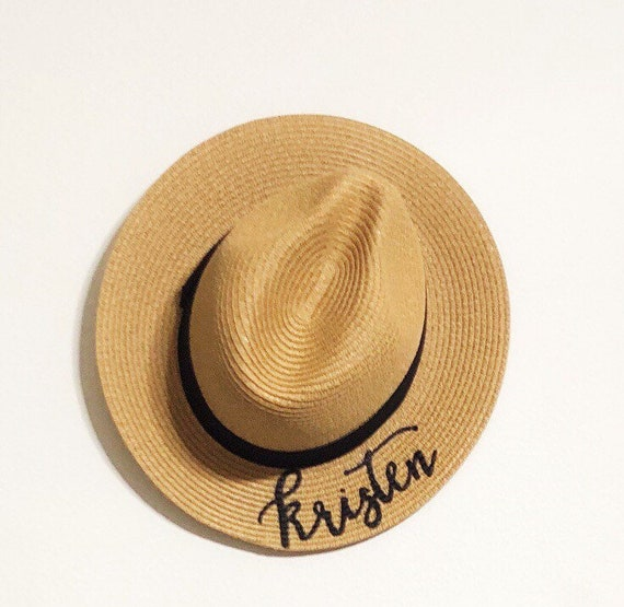 Hand Lettered Panama Hat Painted Personalized Fedora  8e29337c551