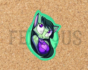 DreamKeepers Lilith Sticker - Web Comic Stickers - Furry Community - Anthro Decals - Book Worm Sticker DK034
