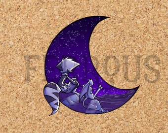 DreamKeepers Mace Moon Sticker - Web Comic Stickers - Furry Community - Anthro Decals DK022