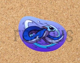 DreamKeepers Water Ryuu-Neko sticker  Sticker - Web Comic Stickers - Furry Community - Anthro Decals DK019