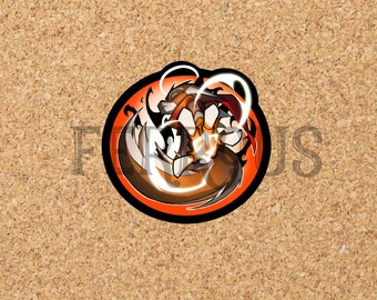 DreamKeepers Small Bast Sticker - Web Comic Stickers - Furry Community - Anthro Decals DK021