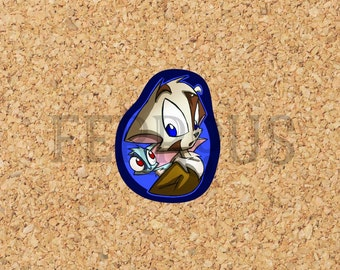 DreamKeepers Mace & Whip Sticker - Web Comic Stickers - Furry Community - Anthro Decals DK032