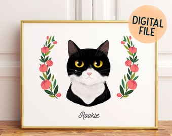 Custom Pet Portrait | Drawing from photo | Cat or dog illustration | Family pet portrait | Unique pet gift | Pet loss gifts