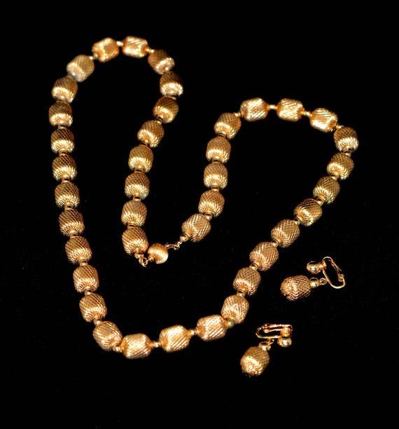 Vintage Jewelry 70s  Set, Vintage Necklace Screw B