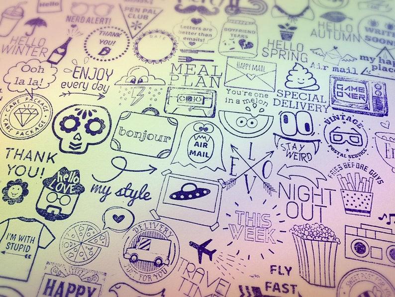 Love Arrow Stamp ~ word rubber stamp, greeting, valentine, wedding,  girlfriend, boyfriend, tribal, penpal, pen friend, mail art, postmark