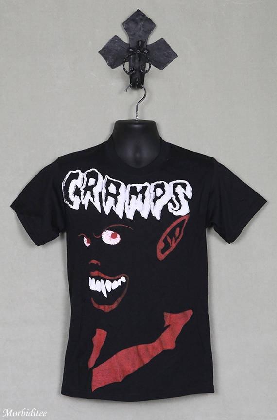 The Cramps t-shirt, black tee shirt, vintage rare,