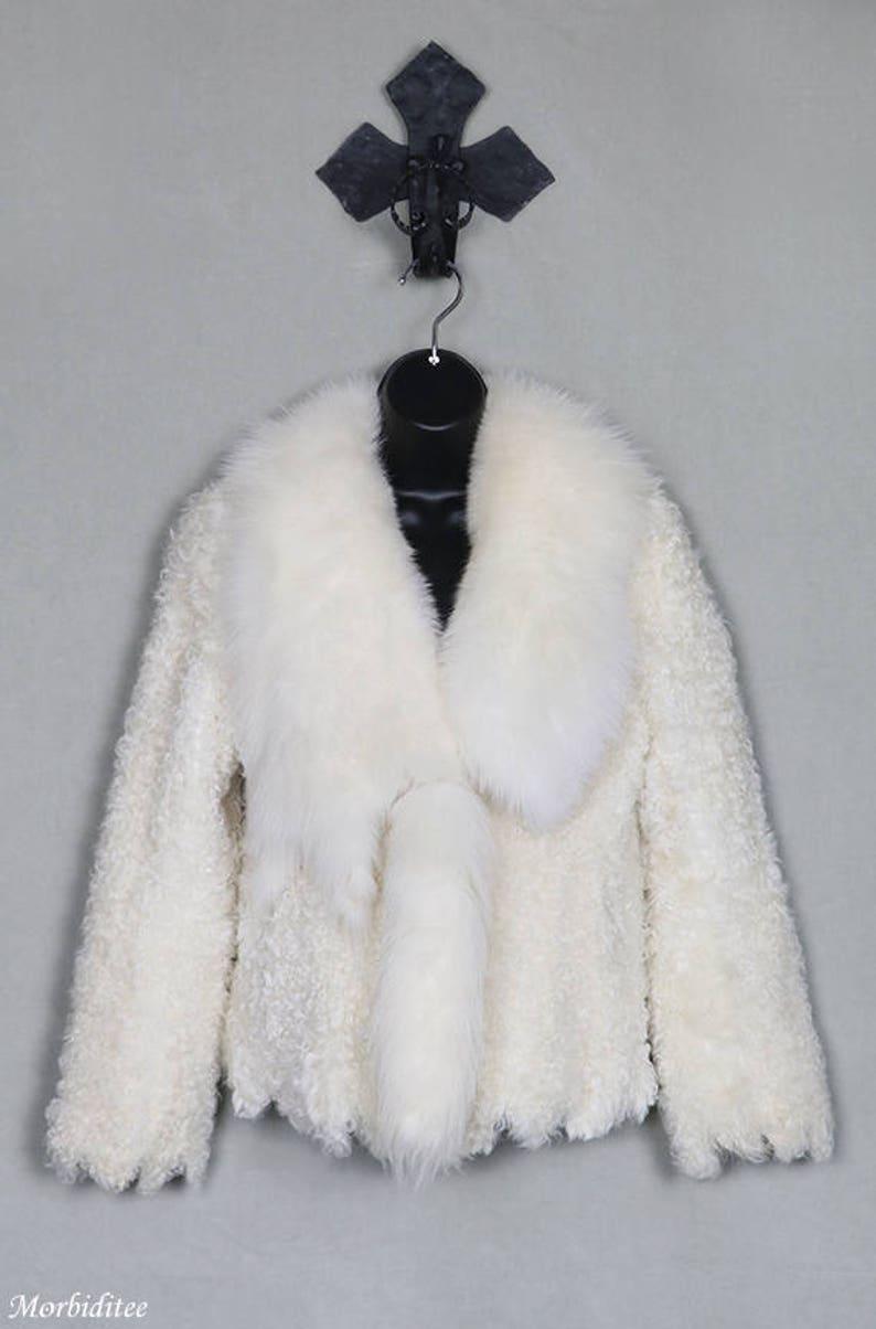 ccfabc3100a34e Dolce & Gabbana avorio pelliccia cappotto agnello ricci fox   Etsy