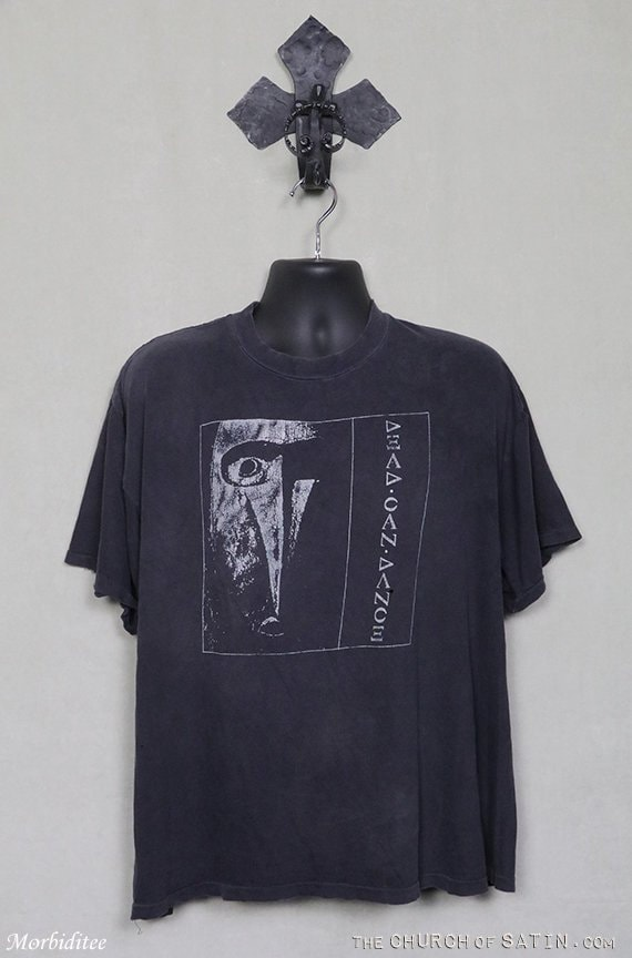 Dead Can Dance vintage rare T-shirt, faded black t