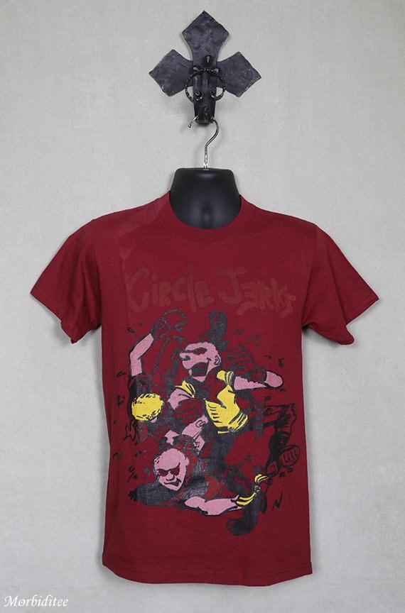 Circle Jerks vintage rare T-shirt, red tee shirt,