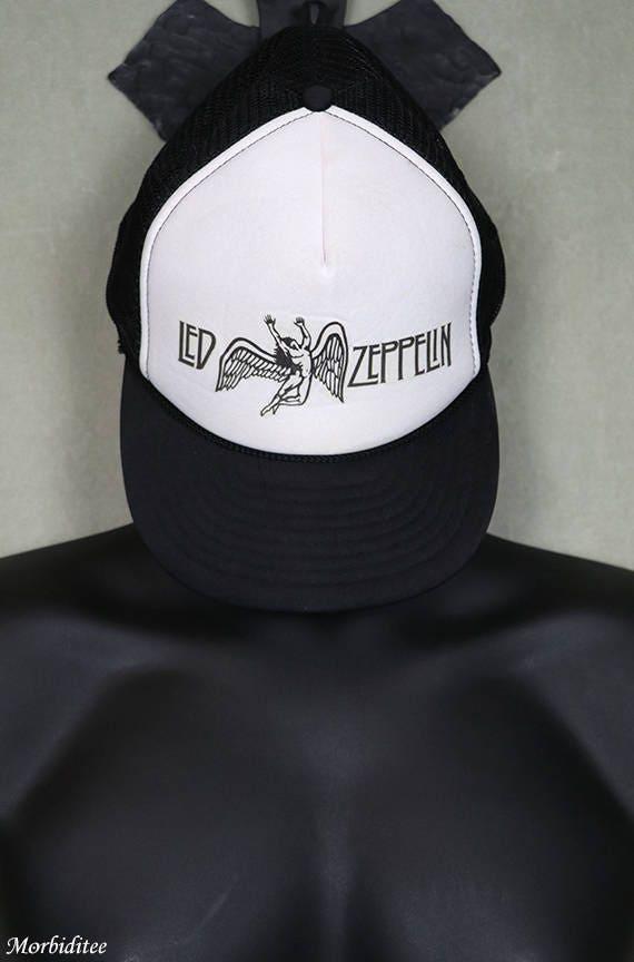 d653358d19d Led Zeppelin trucker cap vintage concert tour snapback hat