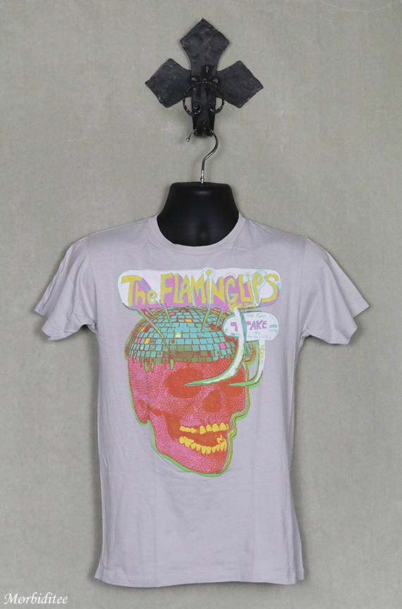 Flaming Lips vintage rare T-shirt, gray tee shirt,