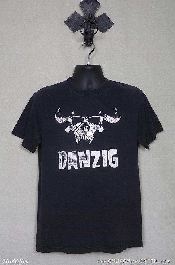 Danzig t-shirt, Misfits vintage rare faded black t