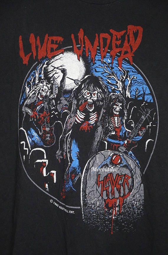 SLAYER Live Undead MEN BLACK t-shirt BAND MUSIC SLAYER shirt clothing unisex