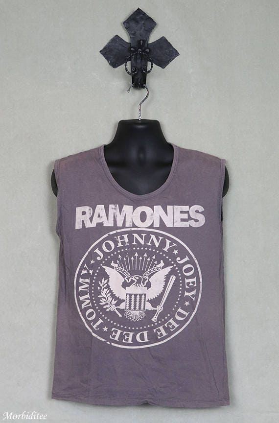 The Ramones t-shirt, vintage rare tee shirt, faded