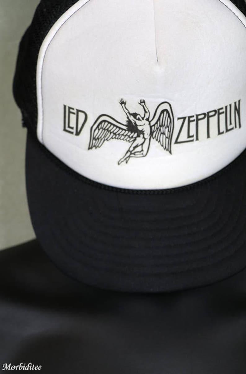 Led Zeppelin trucker cap vintage concert tour snapback hat  39fd137fd4bb