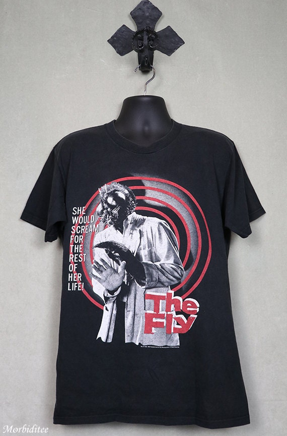 The Fly, horror movie tee, vintage rare, black t-s