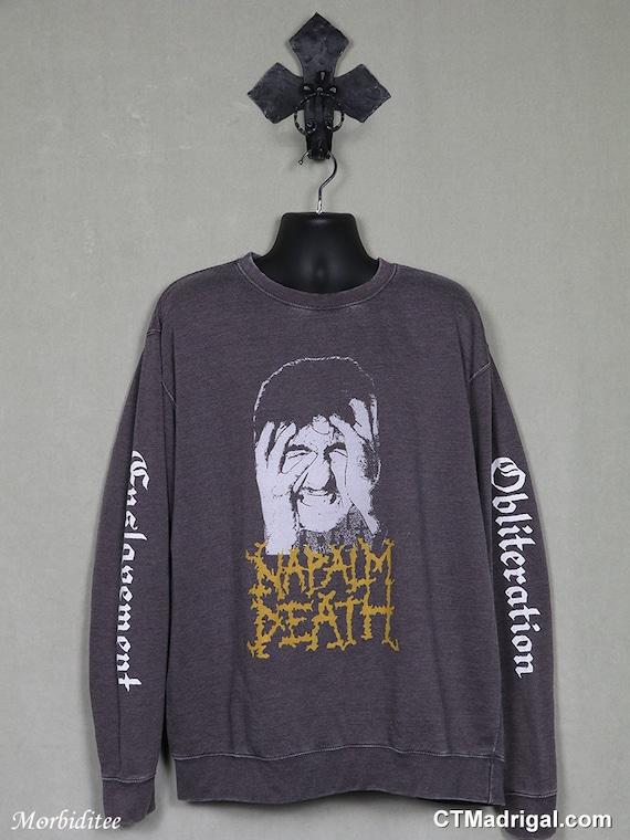 Napalm Death shirt, vintage rare sweatshirt t-shir