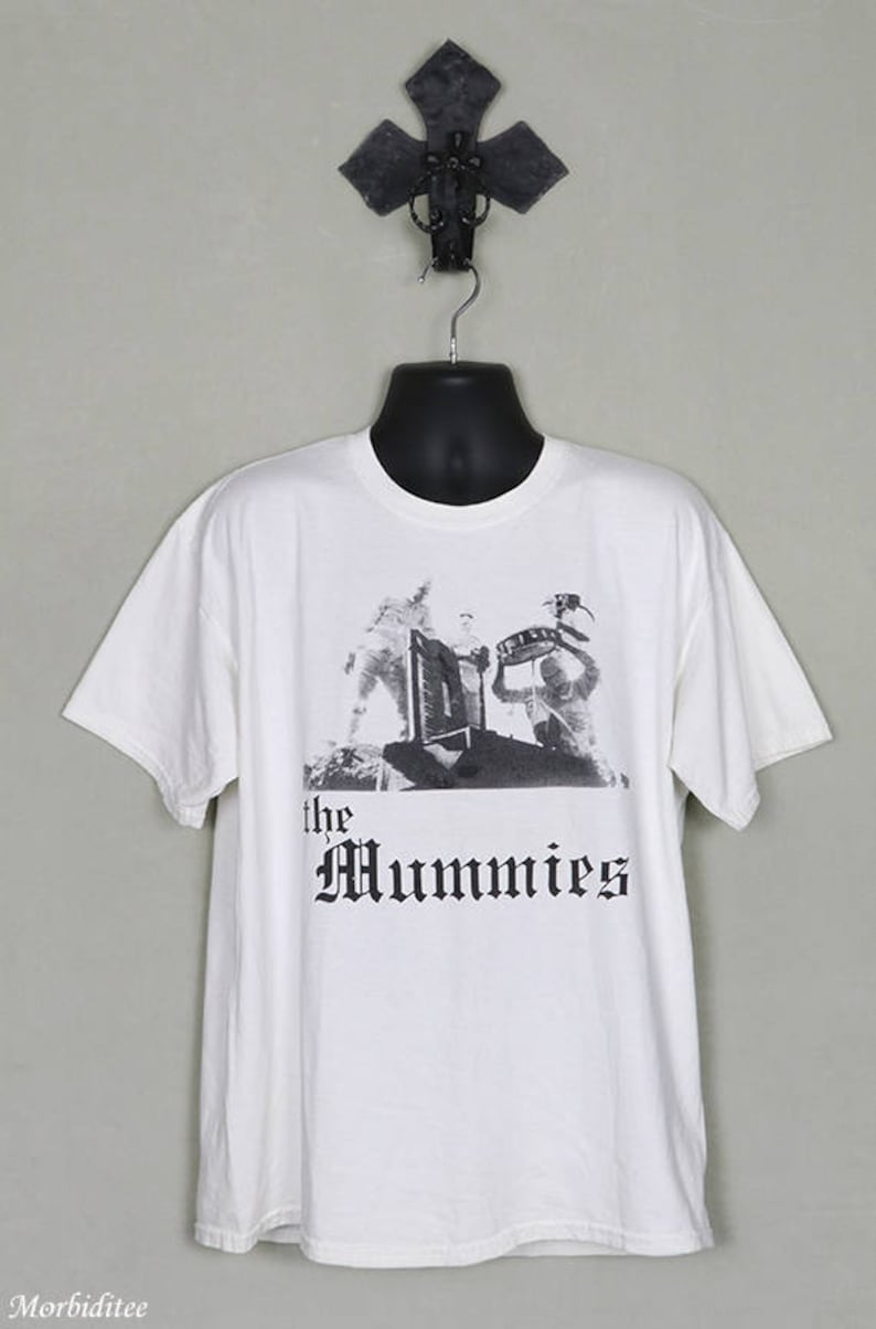 62e16c8d The Mummies vintage rare T-shirt white tee garage punk | Etsy