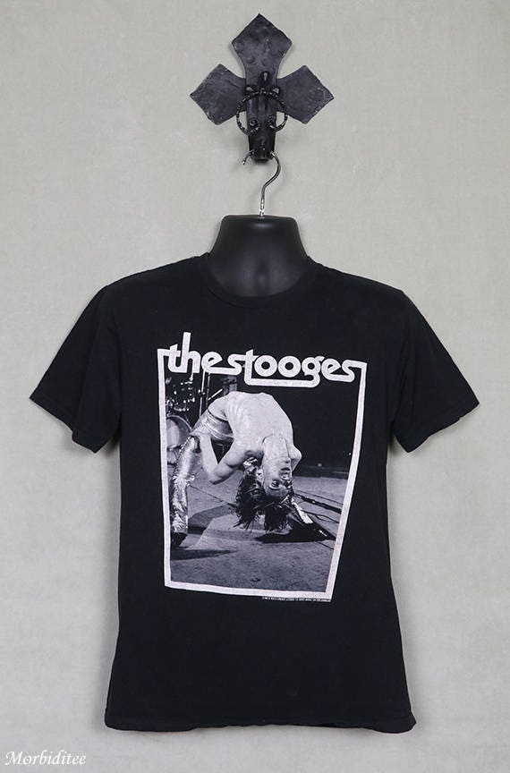 The Stooges, Iggy Pop vintage rare t shirt, faded
