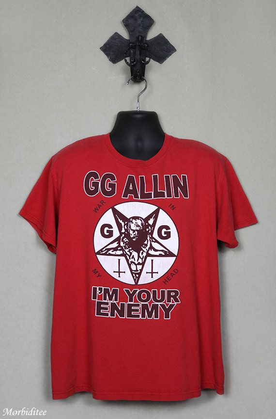 Oop Rare Divination Tarot Cards Unused Sealed Deck By: GG Allin Rare And OOP T-shirt Red Tee Shirt I'm Your