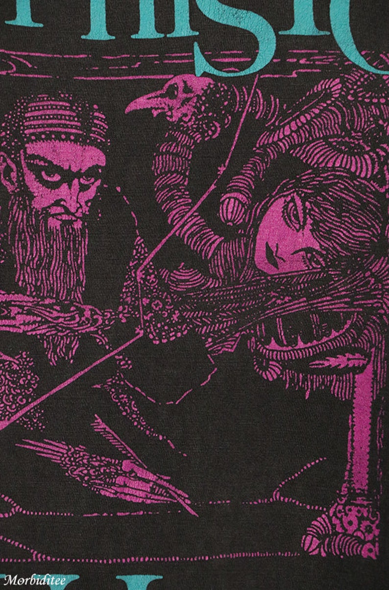 8afd7d67d0 Mephisto Walz shirt faded black tee Christian Death vintage   Etsy