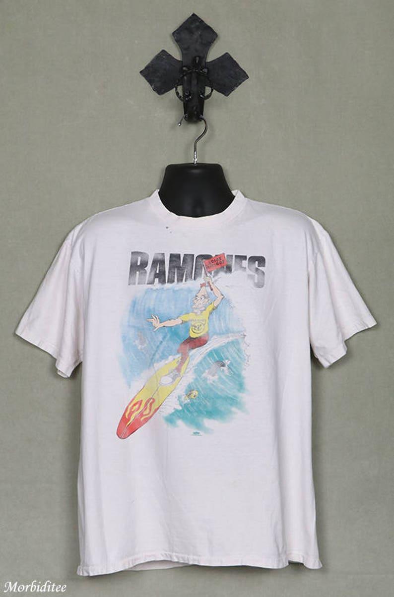 840ce830c The Ramones t-shirt vintage rare tee shirt white hardcore