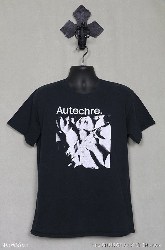 Autechre t-shirt, vintage rare faded black tee shi