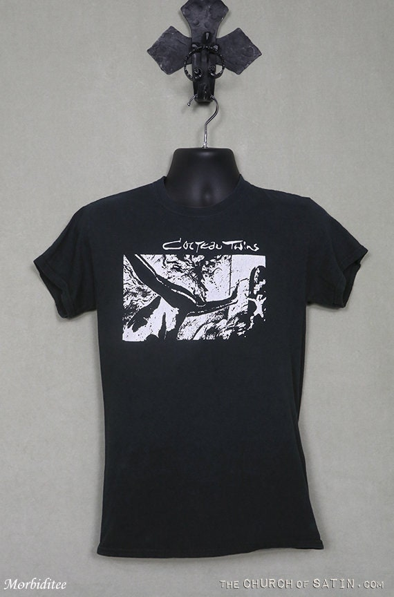 Cocteau Twins vintage rare T-shirt, faded black te