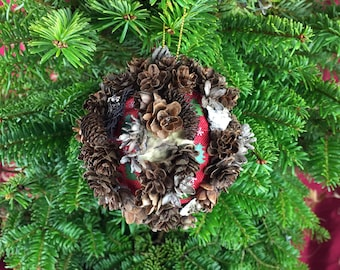 """3 1/2"""" Pine Cone Christmas Ornament, All-Natural Christmas Decoration, Woodland Décor, Pine Cone Ornament, Christmas Gift"""