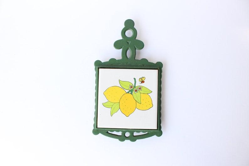 Ghisa e sottopentola piastrella limoni fiori un ape etsy