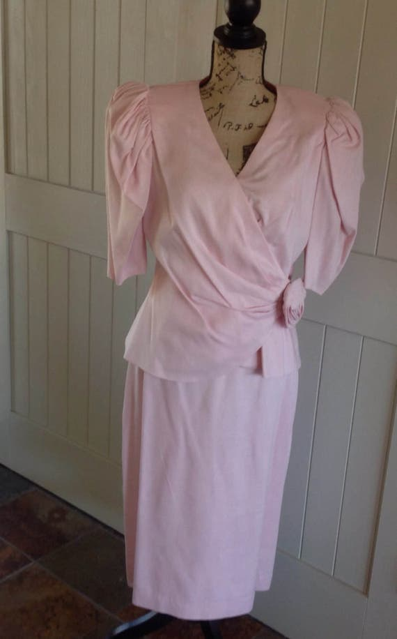 Vintage Pink Suit by Howard Wolf 1980/'s