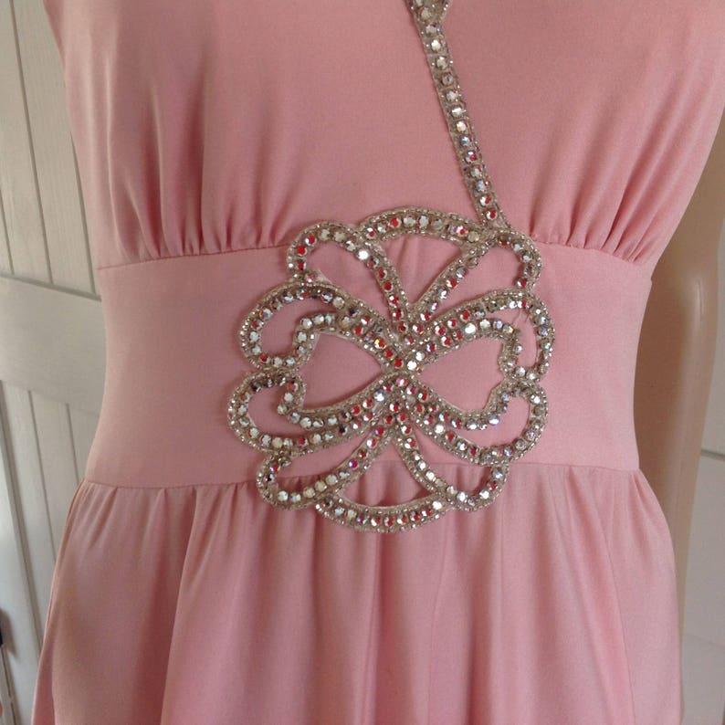 Jahrgang Lilie Rubin elegante rosa Abend/Prom Kleid mit ...