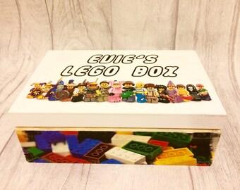 LEGO personalised mini figures/bricks box