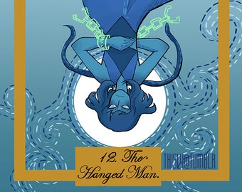 the hanged man and the fool: steven universe tarot card prints