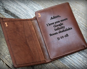 Gift for Him, Trifold Men's Wallet, Personalized Men's Wallet, Gift for Husband, Gift for Boyfriend, 3rd Anniversary, RFID Wallet, Tof 7730