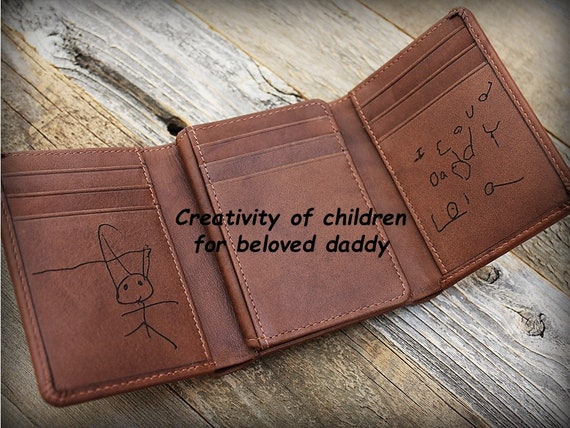 Christmas Gift From Son Engraved Wallet Personalized Gift Etsy