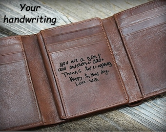 Fathers Day Gift - Gift for him - Trifold Men's Wallet - Personalized Men's Wallet - Gift for Husband - 3rd Anniversary - Birthday -Tof 7133