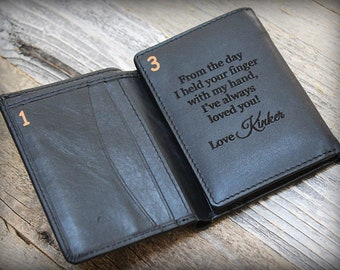 Personalized Mens Wallet - Trifold Mens Wallets - RFID Trifold Wallet - Gift for Boyfriend - Leather Mens Wallet - Trifold Wallet - Blk-7730