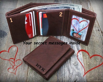 Gift for Man - Father's Gift - 3rd Anniversary Gift - Fathers Gift - Boyfriend Gift - Wallet for Him - Trifold Wallet - RFID Wallet -Tof7730