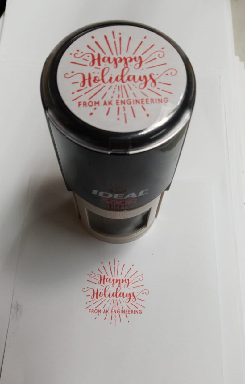 H02 Merry Christmas Stamp Christmas Gift Personalized Holiday Address Stamp Family Christmas Address Stamp