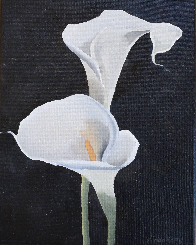 Calla lily 11x14original oil paintingfloral artflower art etsy 50 izmirmasajfo